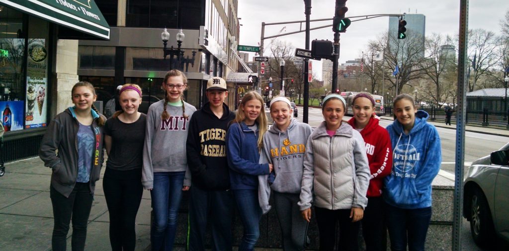 Our Junior Youth Group members getting ready to serve others in Boston, MA  this past spring of 2016. The focus of the mission trip was serving and understanding our community members who are homeless. They began with distributing 120 sandwiches they made to recipients at Boston Commons.